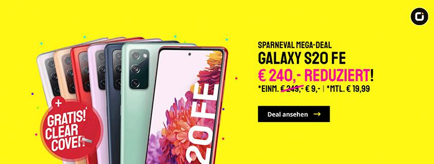 SAMSUNG Galaxy S20 FE + 10 GB Vodafone Tarif & Cover nur 19,99 €/mtl.