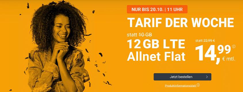 winSIM Top Deal - LTE All 12 GB Tarif für nur 14,99 €