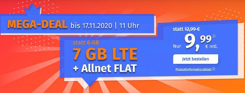 PremiumSIM bietet 7 GB LTE Allnet Flat für 9,99 €/mtl.