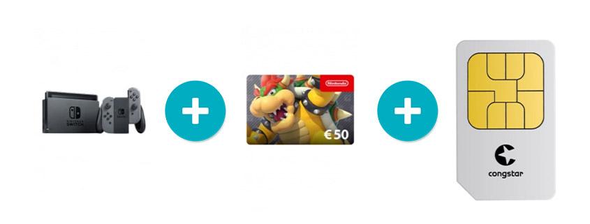 Nintendo Switch + 50 € Guthaben Karte & 8 GB Telekom Tarif nur 20 €/mtl.