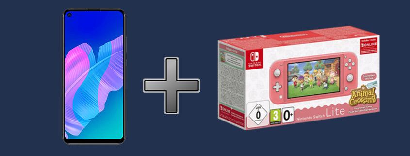 Mega-Deal - Huawei P40 Lite E inkl. Nintendo Switch Lite nur 12,99 €im Monat