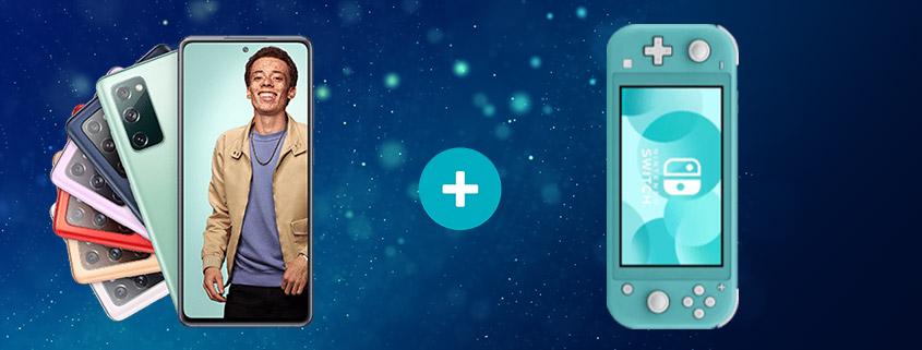 Samsung Galaxy S20 FE inkl. Switch Lite & LTE Tarif ab 24,99 €/mtl.