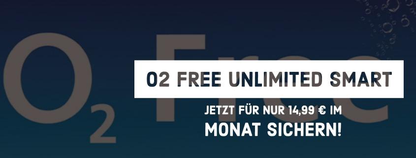 o2 Free Unlimited Smart für 14,99 €im Monat
