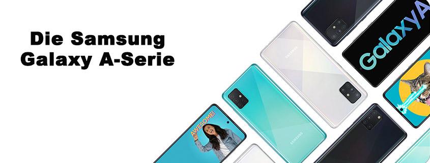 Die Samsung Galaxy A-Serie Modelle inkl. 6 GB Tarif für 9,99 € im Monat