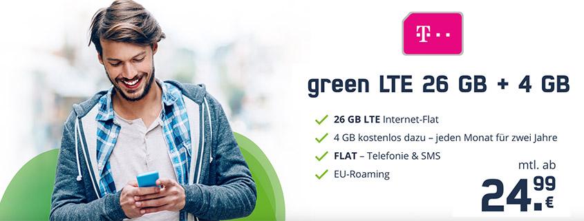 Top-Deal: 30 GB Telekom LTE Allnet Flat für nur 24,99 €/mtl.