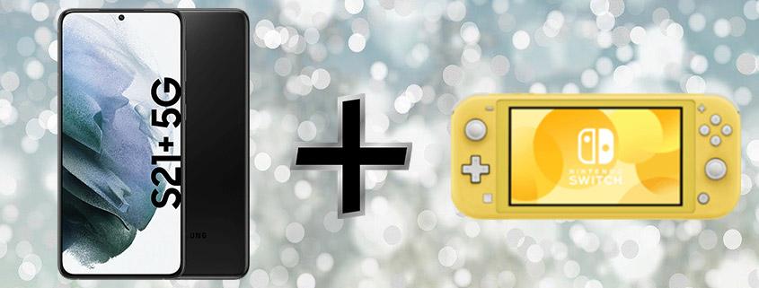 Samsung Galaxy S21+ inkl. Nintendo Switch Lite & 60 GB Tarif für 39,99 € im Monat