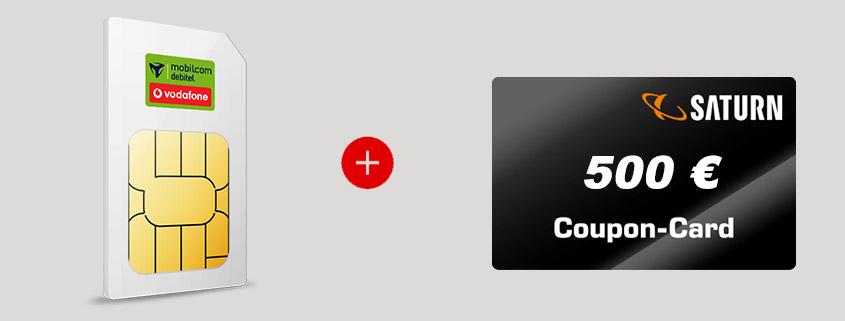Coupon Deal - Vodafone LTE Allnet Flat + 500 € Gutschein für 30 €/mtl.