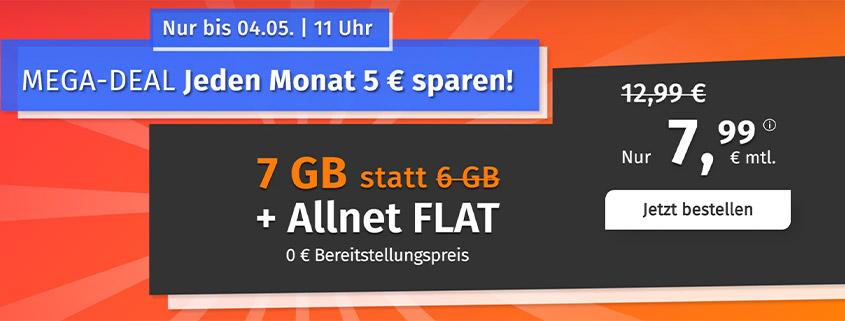 PremiumSIM bietet 7 GB LTE Allnet Flat für 7,99 €/mtl.