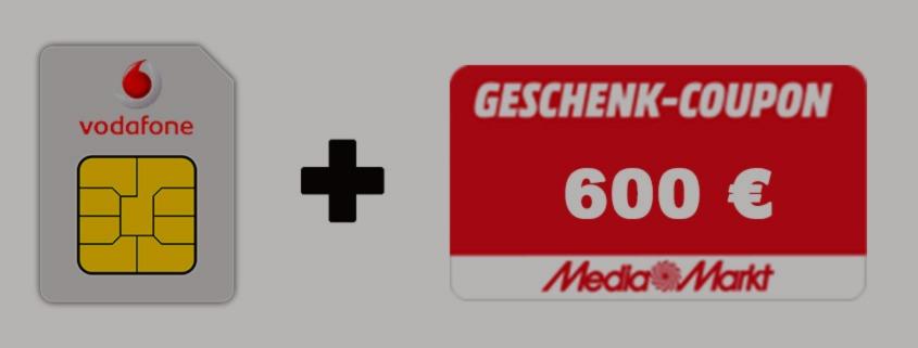 Coupon Deal - Vodafone LTE Allnet Flat + 600 € Gutschein für 36,99 €/mtl.