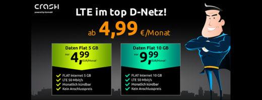crash Prime Day Knaller - Vodafone Daten Flat mit 5 GB nur 4,99 € im Monat