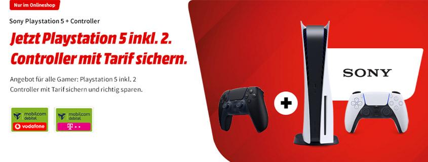Playstation 5 inkl. 2. Controller & 30 GB Tarif für 39,99 € im Monat