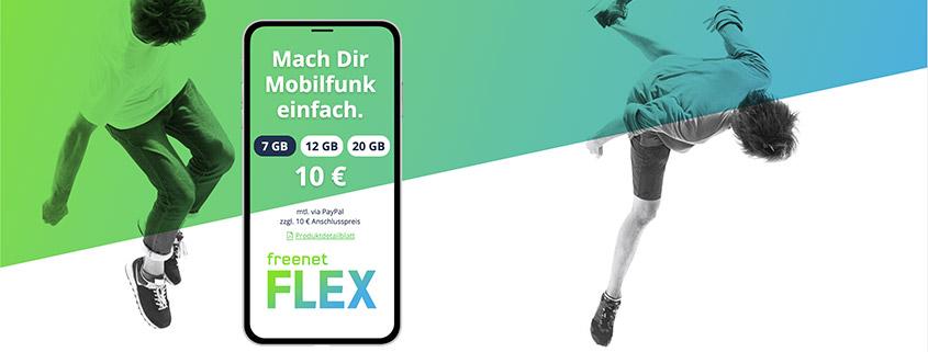 freenet FLEX - Vodafone-Tarife mit bis zu 20 GB Datenvolumen
