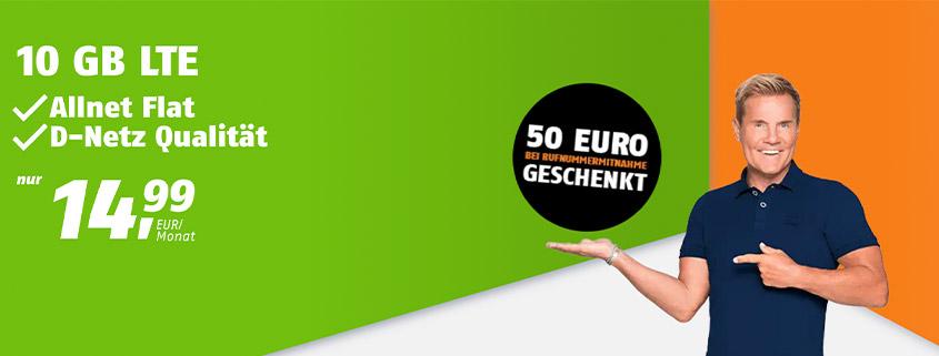 Aktion bei klarmobil: Telekom Tarife ab 9,99 € im Monat & mit 50 Bonus bei Rufnummernmitnahme